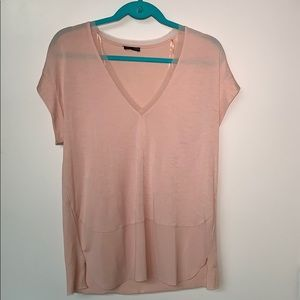Zara Blush Pink V-Neck Top